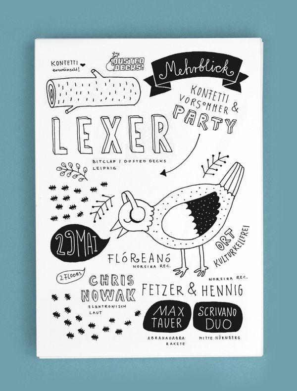 Eventflyer for Mehrblick by Alexandra Turban, via Behance