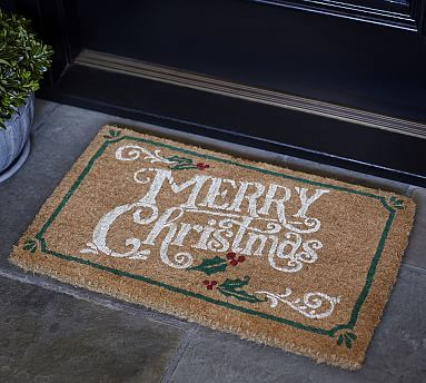 Merry Christmas Doormat #potterybarn                                                                                                                                                                                 More