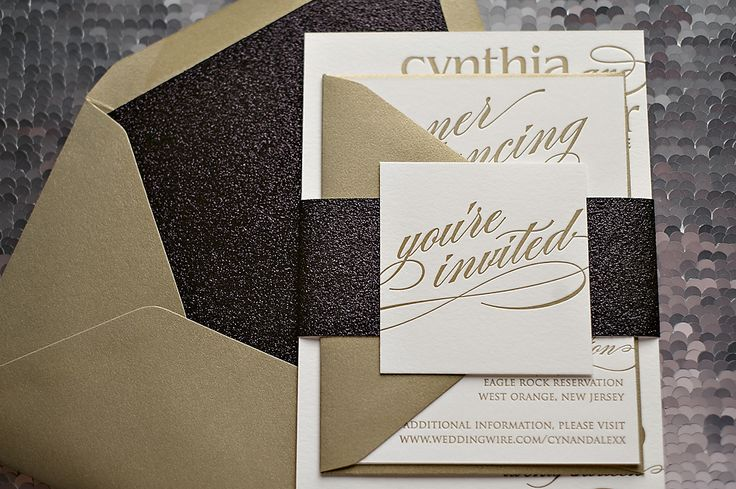Black White Gold Wedding Invitations: 1000+ Ideas About Black Tie Invitation On Pinterest