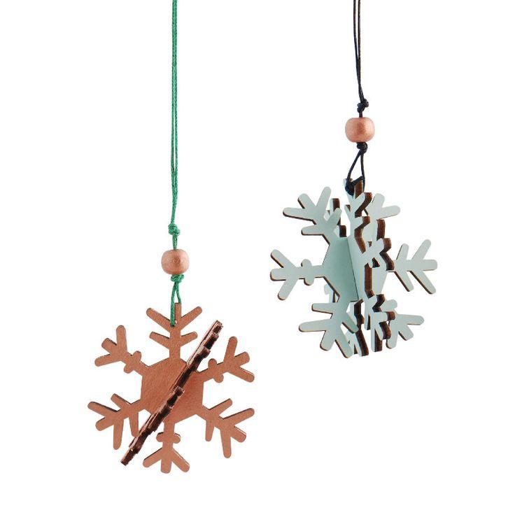 Christmas wood snowflake  www.aspegren.dk