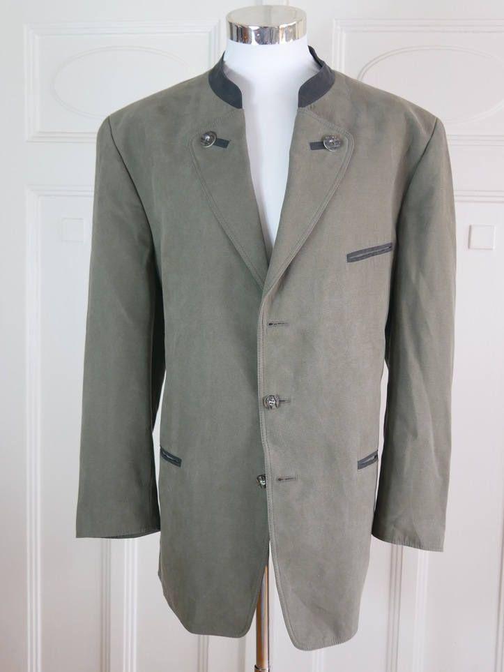 Austrian Vintage Faux Suede Trachten Jacket Men's, Dusty Heather Green Bavarian Octoberfest Blazer, Alpen Hunting Jacket: Size 46 (US/UK) by YouLookAmazing on Etsy
