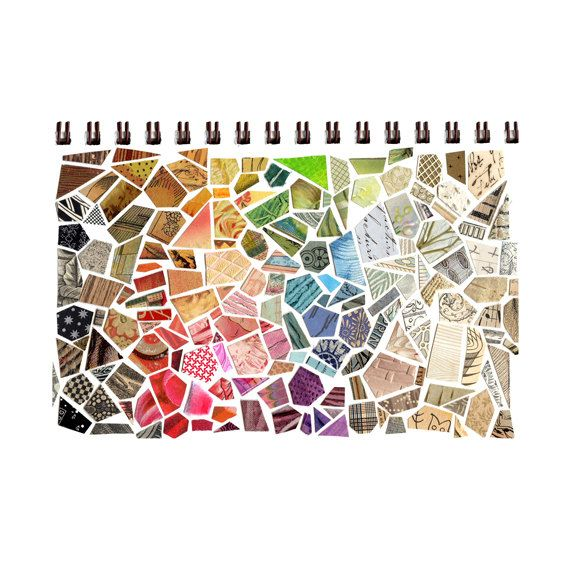 cut paper mosaic sketchbook sketchbook collage by susanfarrington,