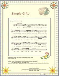 Joseph Brackett's Simple Gifts (Shaker song)