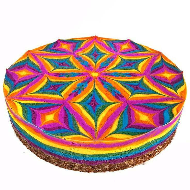 These Psychedelic Cakes Are Raw, Vegan, and Custom-Designed to Represent Your Aura