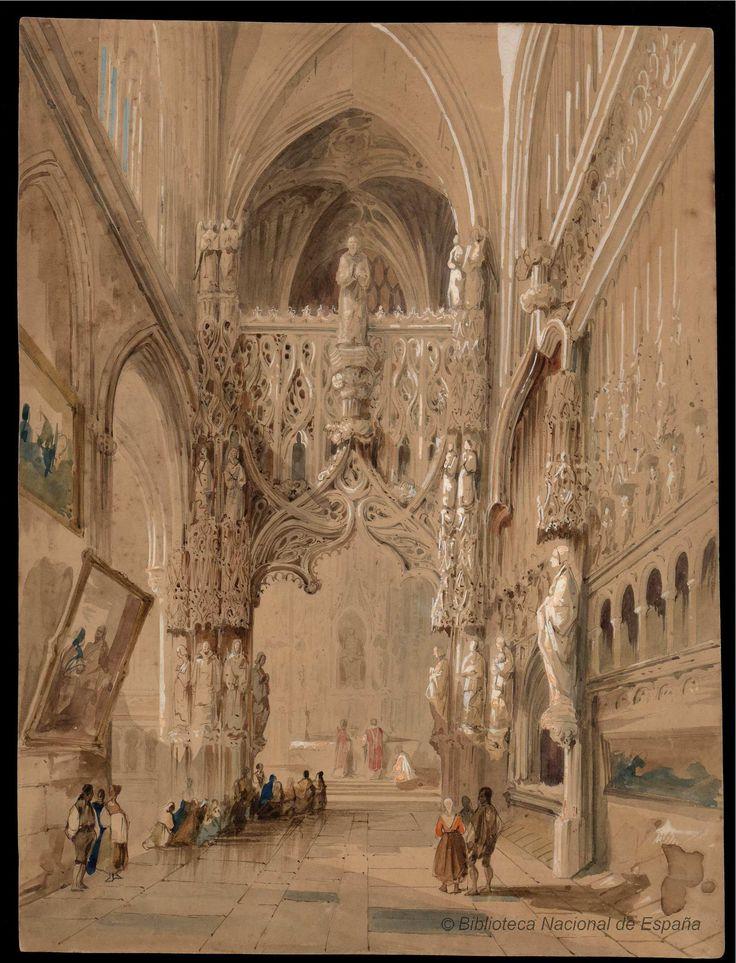 Interior de una iglesia gtica Prez Villaamil Jenaro 18071854