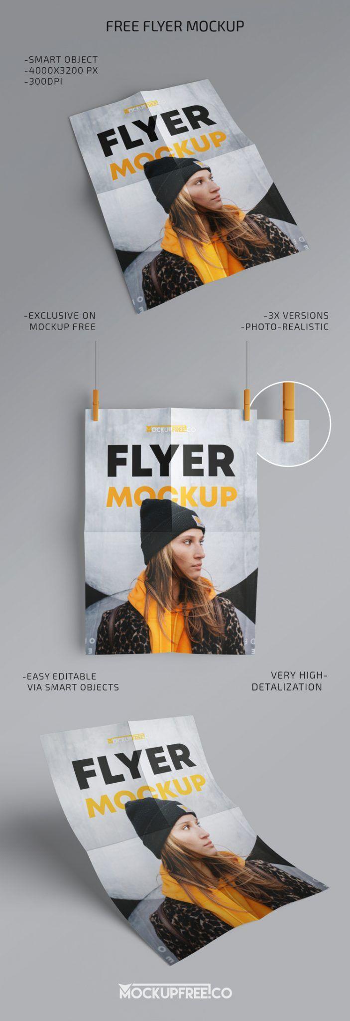 Flyer 3 Free Psd Mockups Mockupfree Co Mockup Free Psd Flyer Poster Template Free