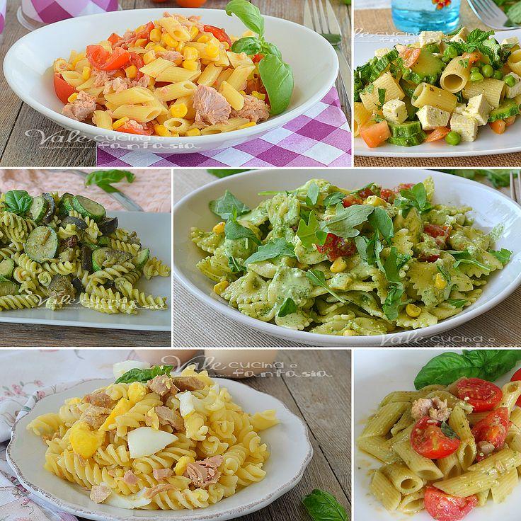 Pasta fredda ricette facili e veloci, tanti piatti freschi e colorati,ideali per l'estate, primi piatti freschi e semplici da preparare,una raccolta gustosa