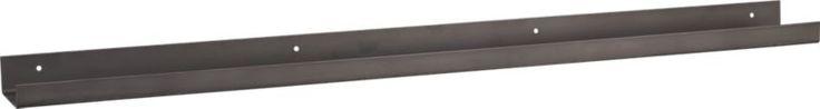 metal gunmetal wall shelf    CB2