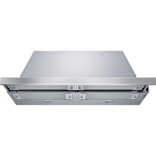 Bosch HUI5651UC 500 Series 500 CFM 36 Inch Pull-Out Under Cabinet Range Hood, Silver stainless steel