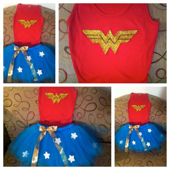 Adult Wonder Woman Tutu..all you need is lots of blue tulle, a ribbon or elastic for waist, and white felt to make stars and hot glue for the stars on tulle! That's it! (for my friends who want to make their own costumes!)