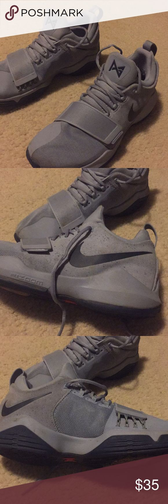 Paul George 1 Glacier Blue Somewhat worn, used for a month. Does not ship with original box (it's edges are rounded from age) Nike Shoes Sneakers