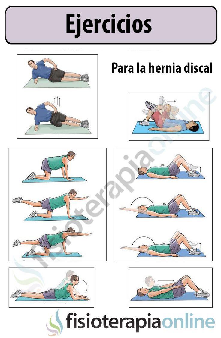 83 ejercicios hernia discal infograf as pinterest for Silla oficina hernia discal