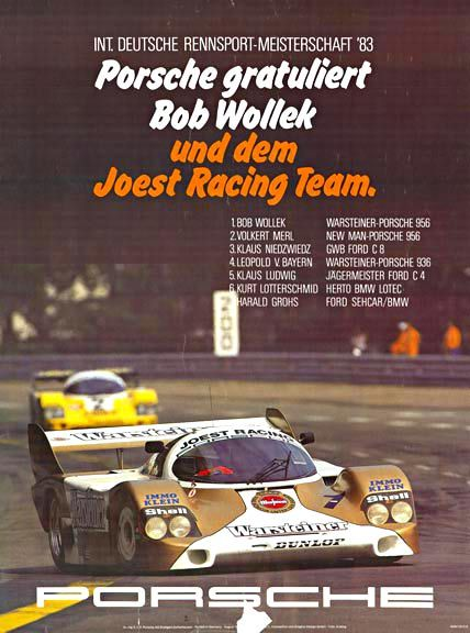Int. Deutsche Rennsport Meisterschaft '83, Krailing.   Porsche.