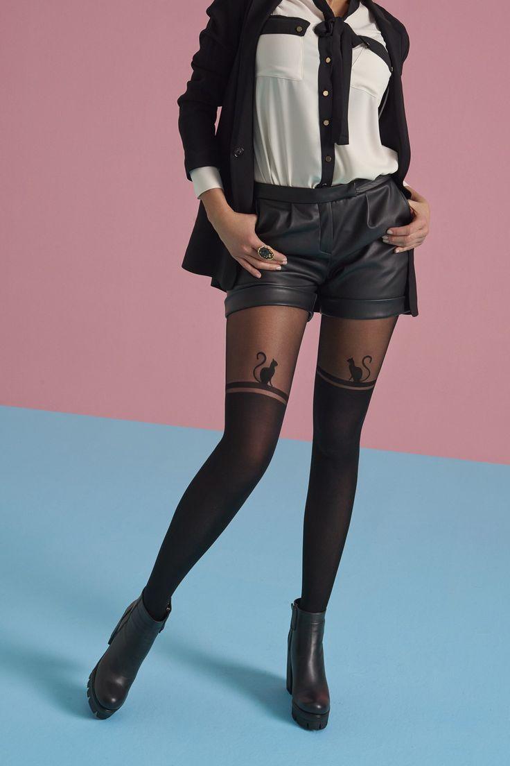Penti Kadın Siyah Machka Külotlu Çorap
