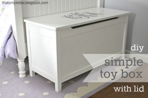 DIY Toy Storage • Lots of Ideas & Tutorials! Including this simple modern toy box from that's my letter.