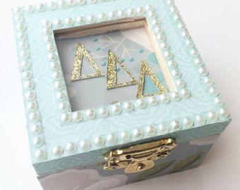 Alpha Phi Sorority Handmade jewelry/sorority pin by PaperGemsbyLex
