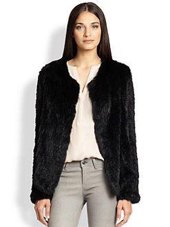 Joie - Aviana Rabbit Fur Coat