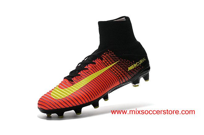 Nike Mercurial Superfly V AG-Pro Crimson Purple Black Yellow Mens Artificial Ground Football Boots