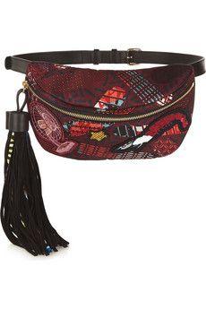 Finds + Atelier Vlisco suede-trimmed printed shell belt bag | NET-A-PORTER