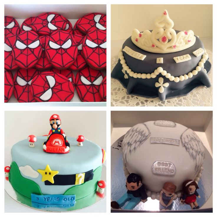 Mario Bros and Spider-Man cookies