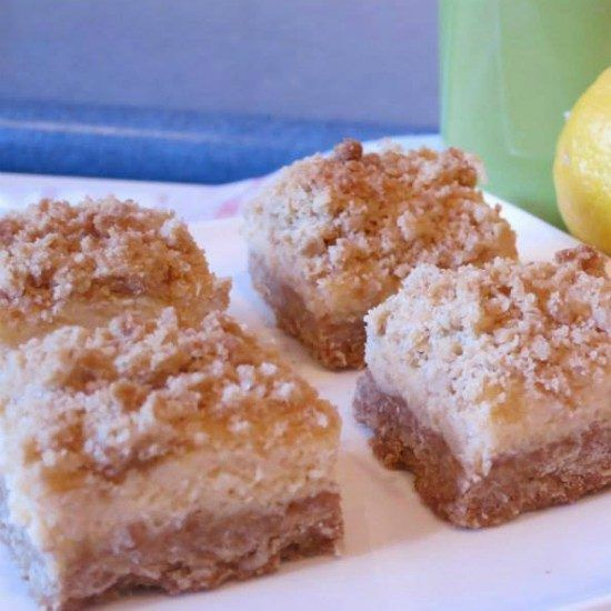 Creamy Lemon Crumble Slice Is A Winner