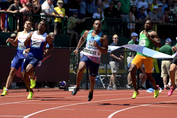 6 Men Under 10 seconds 100m  At the famous Prefontaine Classic the 4th leg of the Diamond League. Ronnie Baker of USA, 24 stormed away from a quality field at half way Baker was a meter clear and never looked like giving any of that away,   #2018 Winter Olympics #Akani Simbine #Akeem Haynes #Andre De Grasse #Association of Southeast Asian Nations #Aung San Suu Kyi #Barack Obama #Beijing #Bianca Andreescu #Brendon Rodney #China #CNOOC Limited #Curtain raiser #Doha #Donald