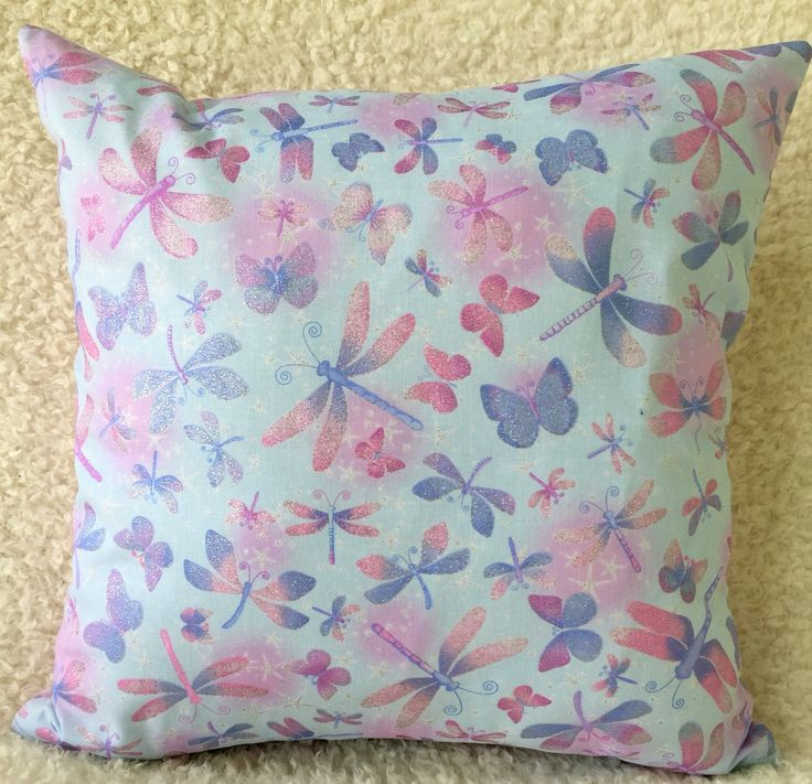 Butterfly Cushion Cover, Blue Cushion Cover, Pink Cushion Cover, Living Room, Girls Room, Housewarming Gift, Birthday Gift, Gift for Her by C4Cushions on Etsy