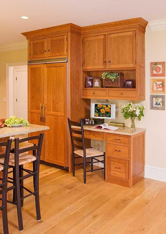 Desk made from kitchen cabinets | Kitchen desk areas ...