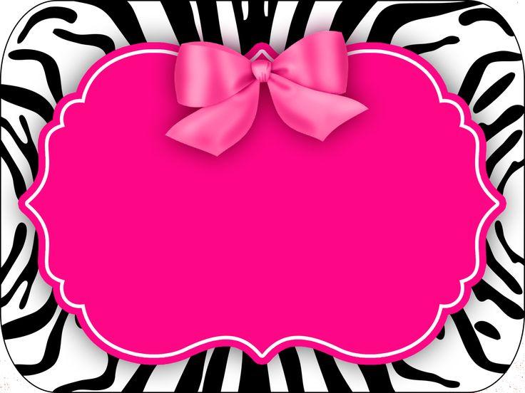 Montando a minha festa: Zebra rosa e preto                                                                                                                                                     Mais