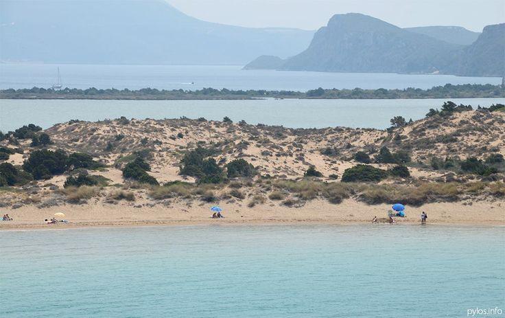 View to Voidokoilia beach. Pylos, Messinia, Greece http://pylos.info