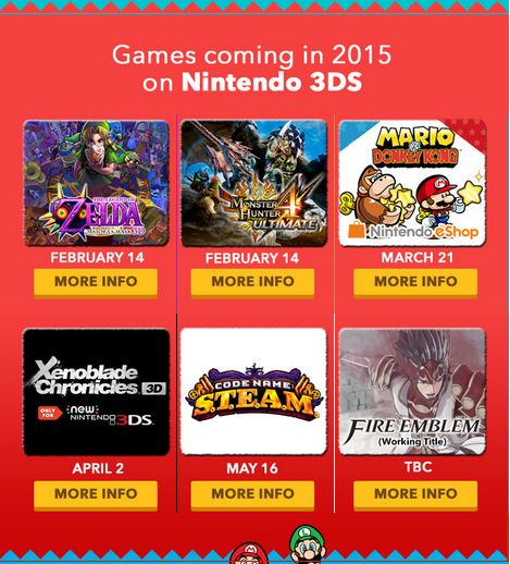 3DS Release Dates!