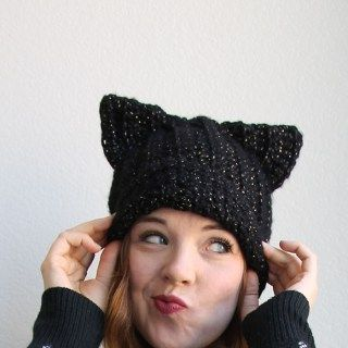 Black Cat Slouch Hat – Free Crochet Pattern