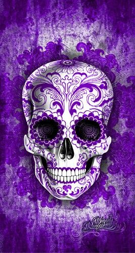 purple sugar skull ~ Artistic goal.