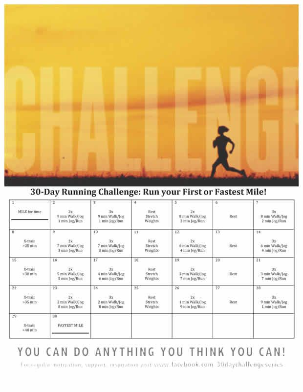 30-Day Running Challenge: Run Your First or Fastest Mile | ACTIVE