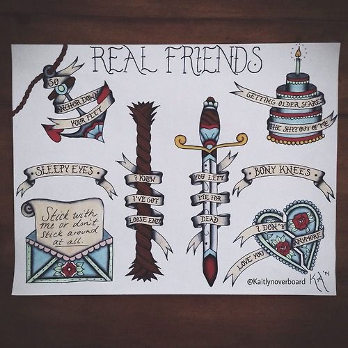 i need these all of them traditional real friends sleeve here i come
