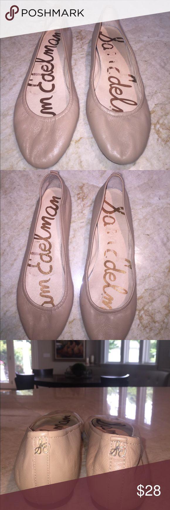 "Sam Edelman noah flats Worn ""noah"" nude leather flats, run a little big Sam Edelman Shoes Flats & Loafers"