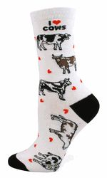 I Love Cows Socks