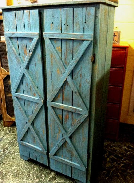 Reclaimed Solid wood pie safe kitchen pantry by Reclaimed4aPurpose