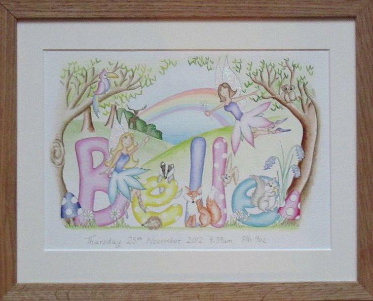 Belle woodland fairy name painting