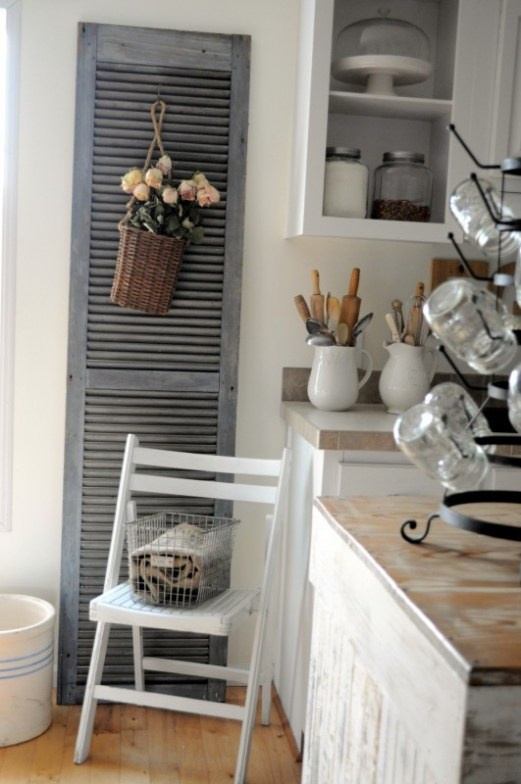 salvaged shutters | Decorating with shutters | Pinterest ...