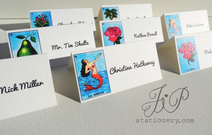 Wedding Stationery - Escort Card's - Mexico Loteria. $5.00, via Etsy.