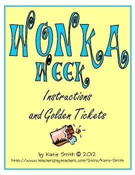 Wonka Week Golden Ticket Freebie -- Fun for End of Year Management!