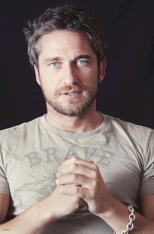Gerard Butler Oh, my! And he's Scottish...where is the kilt?