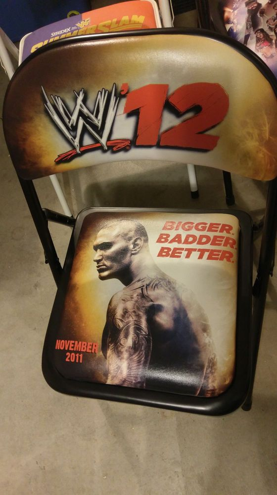 What Are Wwe Chairs Made Of Best Reclining Garden Uk Wwf Wrestling Chair 2k 2012 Rare Only A Few