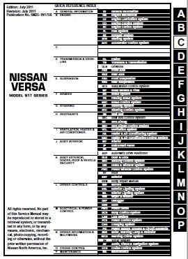 nissan versa sedan 2012 service repair manual almera pinterest rh pinterest com 2011 Nissan Versa Wiring-Diagram Nissan Ecu Wiring Harness Diagram