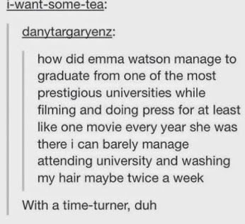 Lest anyone forget that Emma Watson is, in fact, Hermione Granger