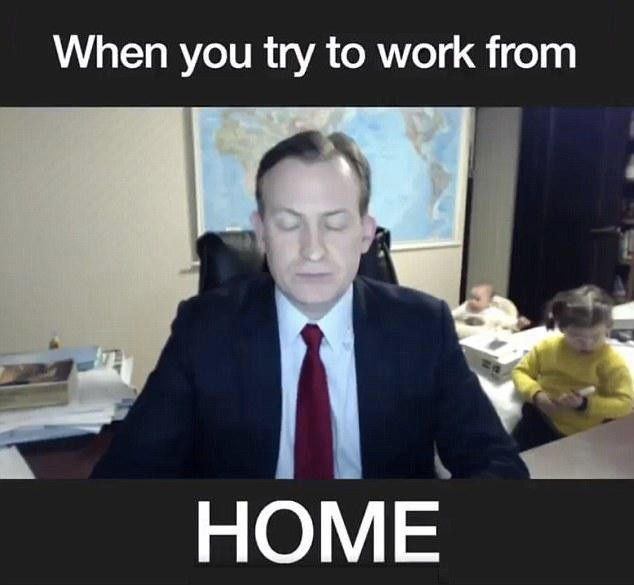 When You Try To Work From Home Work Humor Parenting Memes Mom Humor