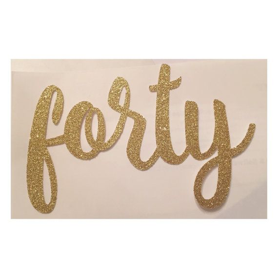 Forty Cake Topper Fortieth Birthday Cake by TheLittlePopShop                                                                                                                                                                                 More