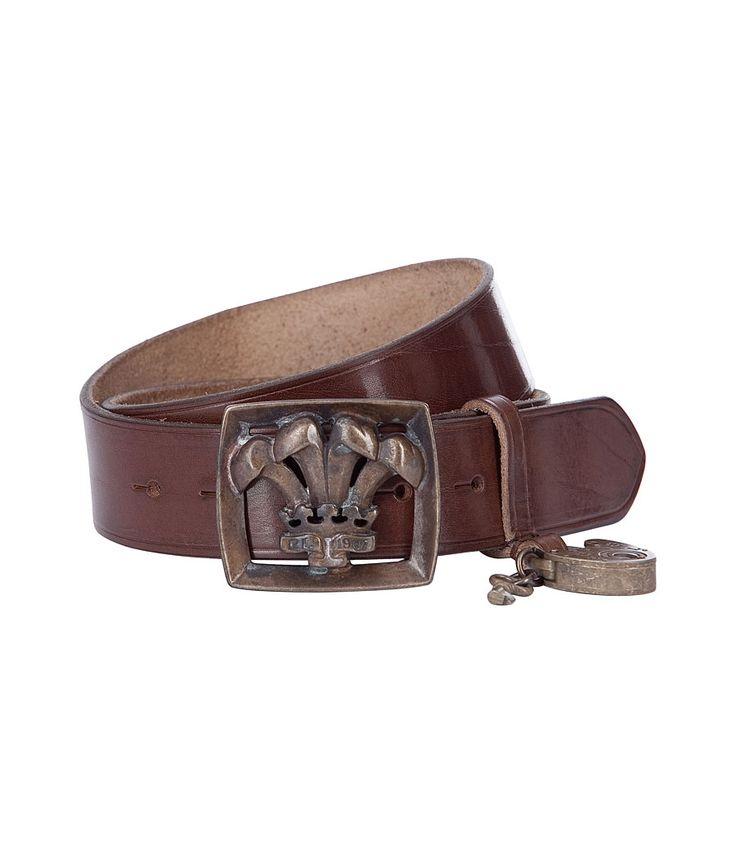 Brown Contour Vachetta Belt