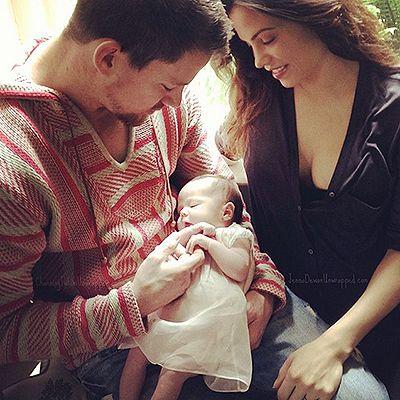 Идеальная семья: Ченнинг Татум и Дженна Дьюэнн-Татум с дочерью на пляже   Красота Инфо